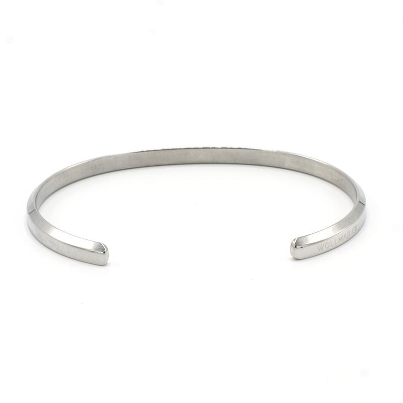Bracelet Silver Bevel Edge