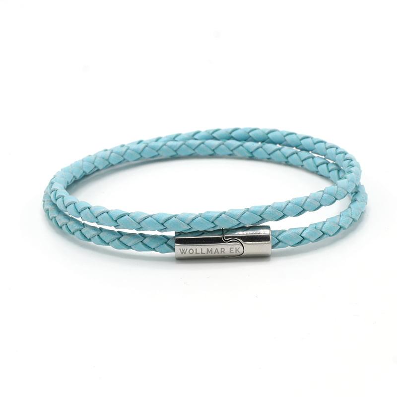 Leather Bracelet Sky Blue